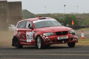 Fergus Gray and Eoghan Anderson in their BMW 130i.