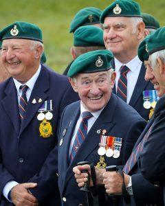 Royal Marines veterans at Spean Bridge parade