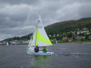 There was close racing in the junior races. F33 LYC Regatta 01NO.