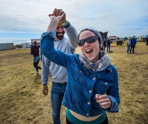 Dancing in the sunshine at the 8th year of the Tiree Music Festival 2017. Photo: Alan Peebles