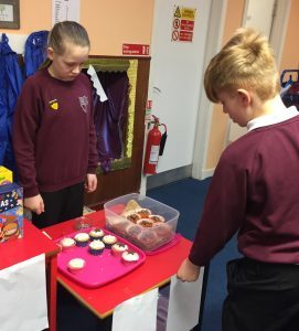 One pupil also baked cakes to sell. NO_c48drumlemble02