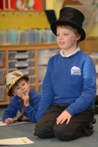 A top hat puts William in charge