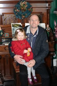 Amelia, 3, and her dad Donald McLean.