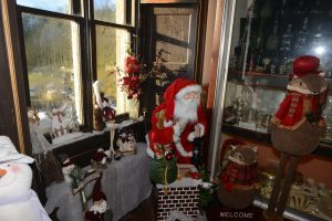 Another Christmas window scene at Glenbarr Abbey.