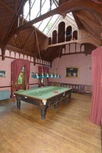 Achamore House's billiard room.