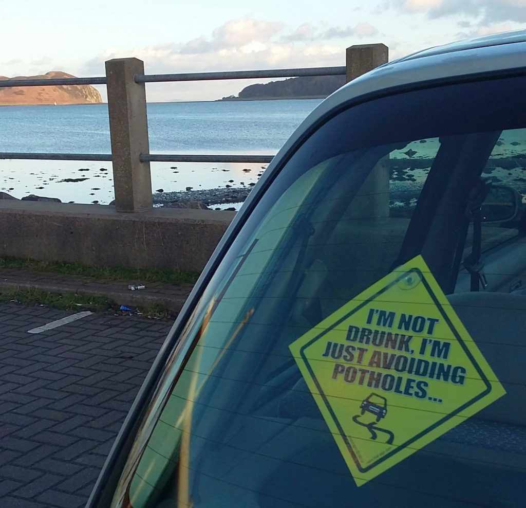 The essential car rear window sticker for the A83.