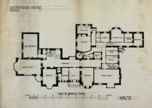 The floor plan which was in Mackintosh's hand and was in his possession.