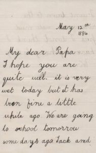 One of the letters held within the archive.