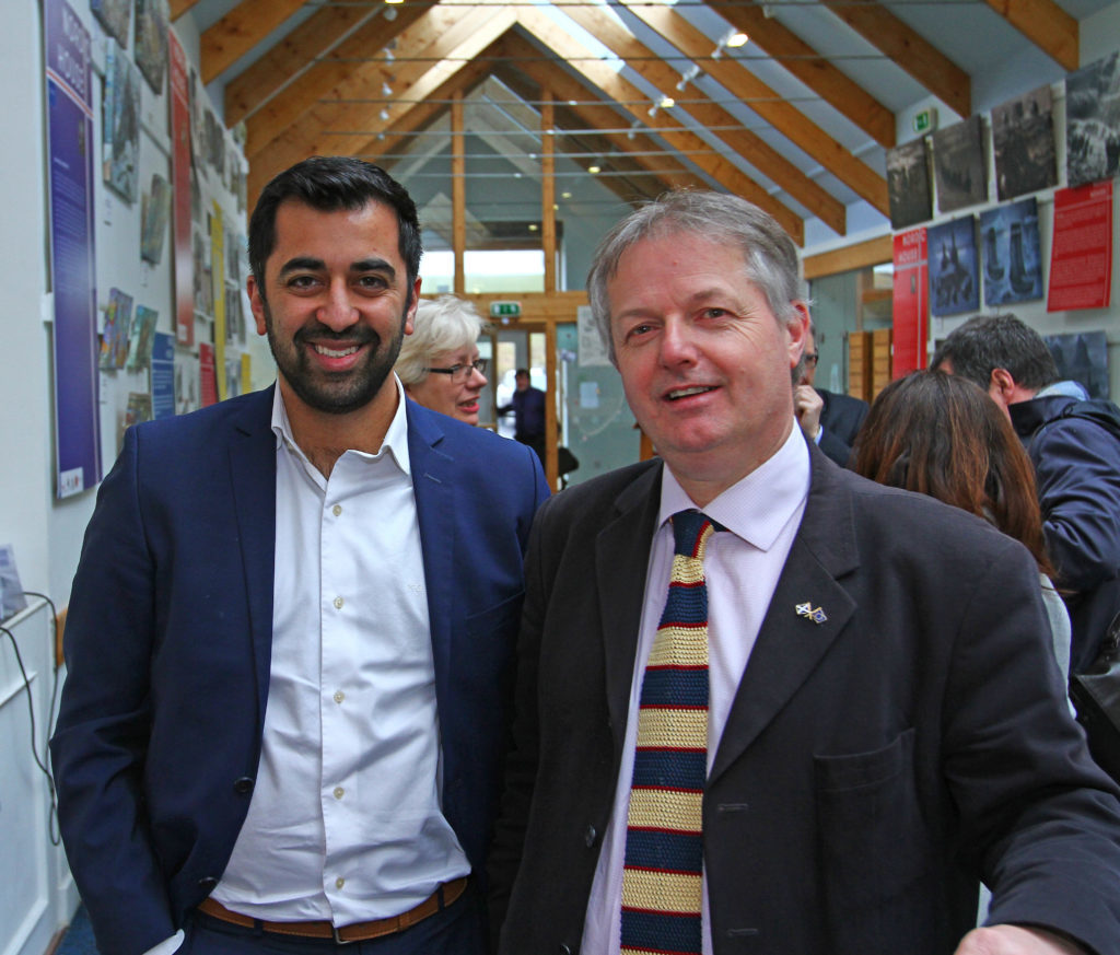 Brendan O'Hara travelled to Craighouse on Jura to host a public meeting with Humza Yousaf MSP. Photo: Kevin McGlynn. NO_T15_Jura and Islay summit02_KMcG