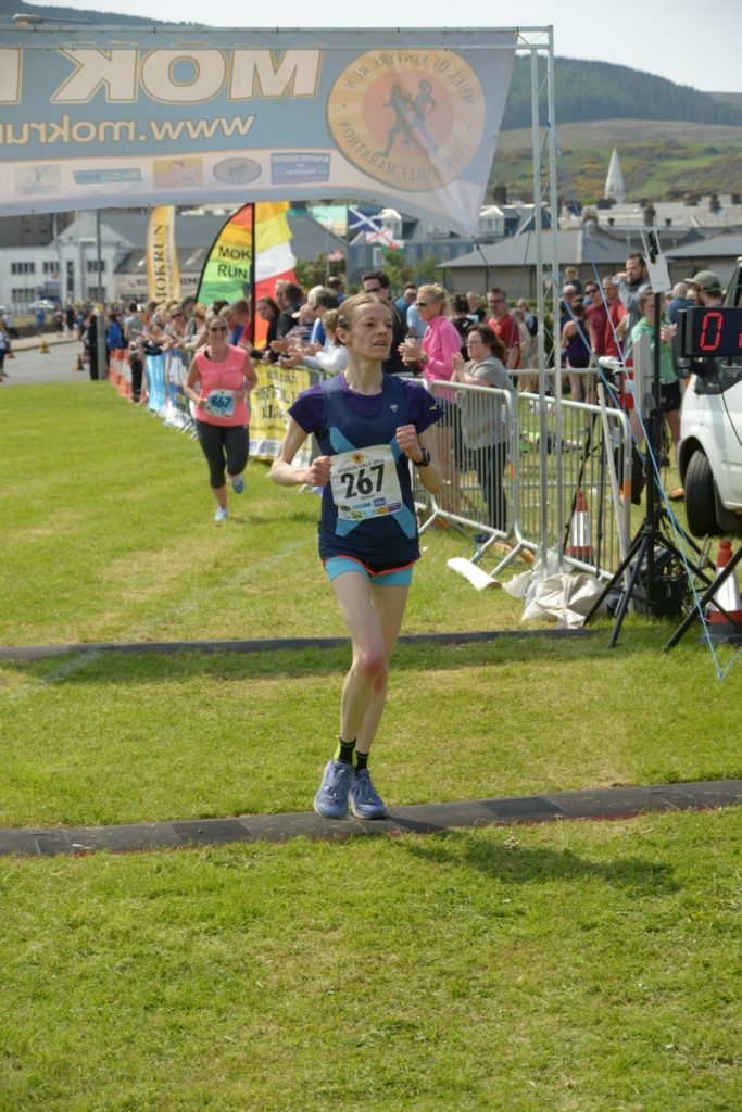 Last year Susan Mcritchie won the 10K this year she went one better with the half marathon.
