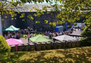 The sun beat down on visitors to Glen Scotia Distillery's open day on the first day of the 10th annual Campbeltown Malts Festival.
