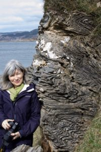 Jo Woolf, writer in residence at the Royal Scottish Geological Society