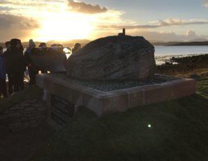The Flannan Isles memorial.