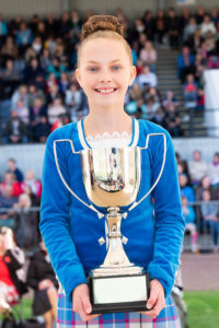 Highland dancer Eva MacColl, 12, from Appin, was awarded 4th place overall. Eva is a S1 pupil at Oban High School and attends the Appin School of Dance.