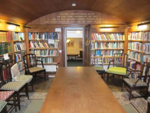 The newly refurbished library at Iona Abbey. NO_T43_Ionaabbey01