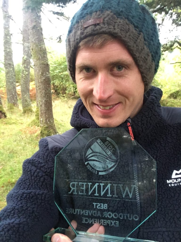 Ewan Miles, who runs Nature Scotland on Mull, won Scotland's best outdoor adventure. NO_t45_MullWinner01