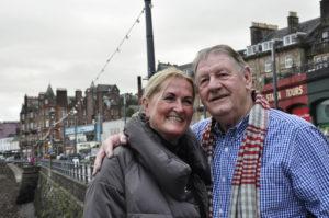 Sue and John Hicks take a romantic walk down Memory Lane returning to Oban after more than 50 years as sweethearts. 16_T48_sueandJohnHicks01