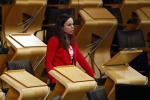 Skye and Lochaber MSP Kate Forbes is concerned about new mortgage debt figures for her constituency.NO F50 Kate Forbes in parliament