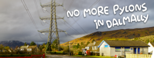 Villagers are against more pylons invading their community. NO_T03_nomorepylonsindalmally