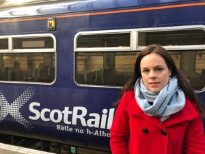 MSP Kate Forbes has called on ScotRail and Network Rail to capitalise on the line's popularity. NO F07 KF train