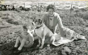 Lorna MacEchern with her nephew Lorne in 1961.