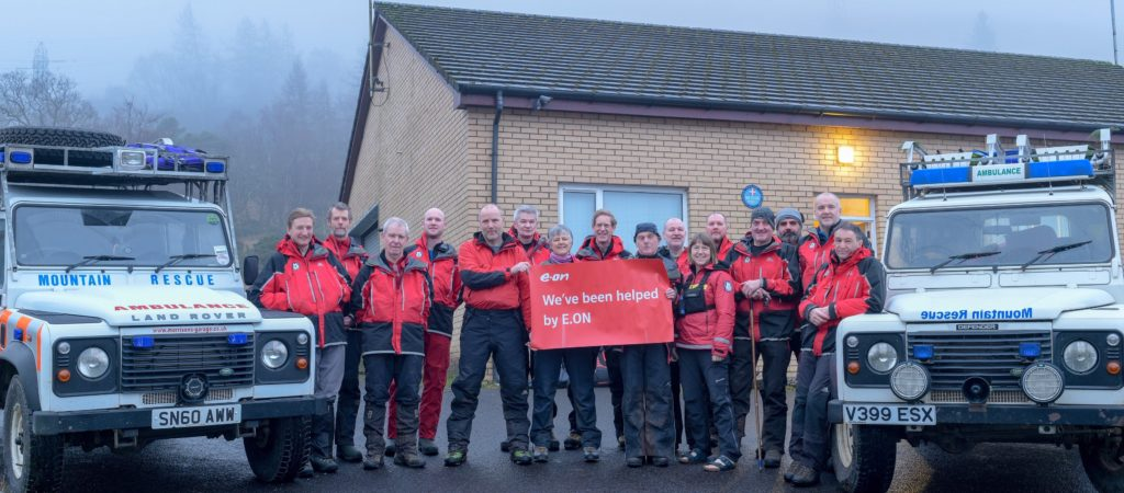 E.ON Energising Communities Fund paid for £1,774 worth of insulation to be fitted at Arrochar Mountain Rescue base. NO_T09_Arrochar Mountain Rescue Team E.ON support
