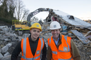 Project manager Mark Little with Angus MacDonald. Picture Iain Ferguson, alba.photos OLD-CINEMA-DEMOLITION-P1.jpg