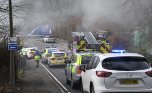 The A82 road at Invergarry was closed for a period while firefighters tackled the blaze on Monday. PICTURE BY IAIN FERGUSON, THE WRITE IMAGE. NO-F-13-INVERGARRY-FIRE-06.jpg