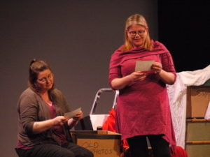 Members of Seil Drama Group went on stage to help raise development funds for the island's hall.