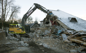 Demolition of the old cinema and the former DV8 clothes store took place in February and March. NO F16 cinema flattened