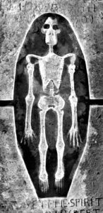 The St Finan's Isle skeleton. Photograph: HES