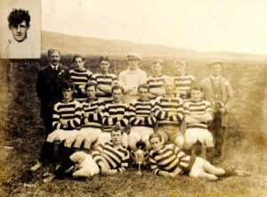 Drumlemble Football Club, winners of the Charity Cup in 1919/20, submitted by Willie McMillan.