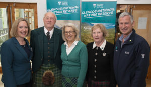 VIP guests included, back row from left, Clea Warner, NTS General Manager, North West & Islands; Lord Godfrey and Lady Claire MacDonald, Lady Lois MacDonnell and Simon Skinner. PITCURE IAIN FERGUSON, THE WRITE IMAGE. NO F23 NTS GLENCOE OPENING05