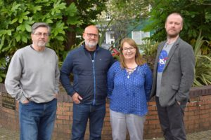 The authors who joined Denzil in Kintyre are, from left: Douglas Skelton, Michael J Malone, Sandra Ireland and Neil Broadfoot.