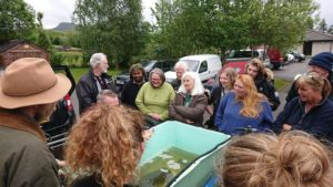There was a good turn out of enthusiastic 'citizen scientists'. NO F31 marine survey caolas