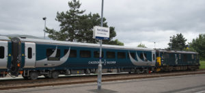 New Caledonian sleeper coaches arrive in Fort William for the first time to allow staff training. PICTURE IAIN FERGUSON THE WRITE IMAGE. NO F27 Caledonian sleeper 02