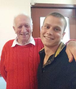 Jenya Navumenka, reunited with host, Vernon Wilkes after 15 years. NO F28 CHERNOBYL CHILD RETURNS 03