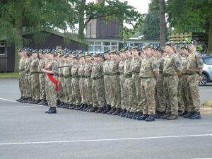 Inverness Company on parade. NO F32 Inverness Company on parade