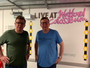 Craig Reid, left, and his brother Charlie - of Proclaimers fame - at their concert in Watford recently. NO F34 Proclaimers pic w Colosseum