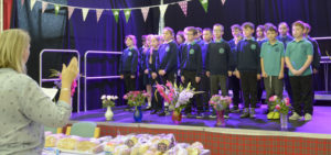 Pupils of St. Columba's Primary sang a medley of songs for guests at the coffee morning in Caol Community Centre. Picture: Iain Ferguson, alba.photos NO-F40-CAOL-COMMUNITY-CENTRE-MAC-COFFEE-MORNING-02.jpg