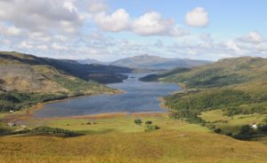 Loch Teacuis looking south-west to Ardnamurchan. Photograph: Iain Thornber