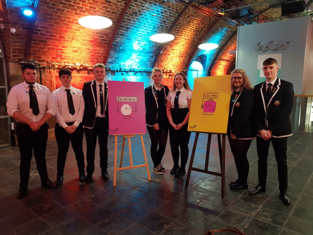 A group of staff and pupils from Dunoon Grammar School participated in a national mental health conference. NO_T38_see me conference