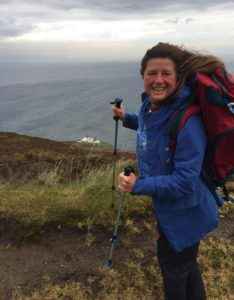 Karen crossed the 4,000-mile mark at the Mull of Kintyre.