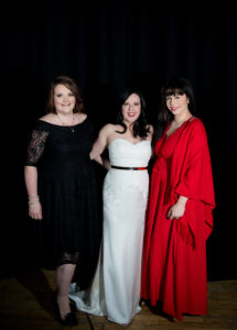 Charity ball organisers Michelle Purcell, Daneil King and Bonny Watkins. Photograph: Abrightside Photography. NO F46 Charity ball organisers Michelle Purcel, Daneil King and Bonny Watkins