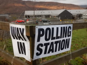 The polling station at Lundavra Primary School in Fort William. Photograph: Iain Fegruson, alba.photos NO-F51-POLLING-STATION-01.jpg