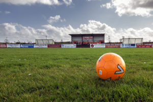 The existing stand at Point FC. Photograph: Sandie Maciver/SandiePhotos. NO F51 Stand6