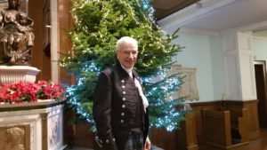 Moderator of the General Assembly of the Church of Scotland Colin Sinclair. NO F52 XmasColinSinclairLS