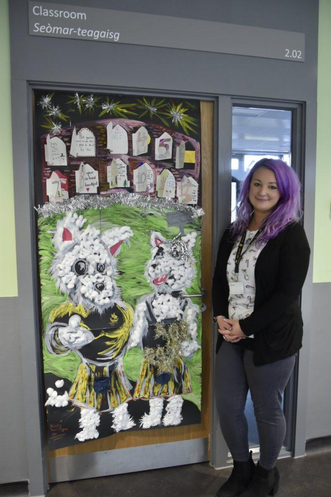 Laura Currie won the head teacher's vote. NO_t01_OHSDoorComp04