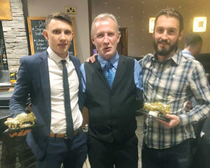 MALLAIG FC Top Goal scorer — Andy Cunningham, left, and David Currie. NO F04 MALLAIG FC TOP GOAL SCORERS