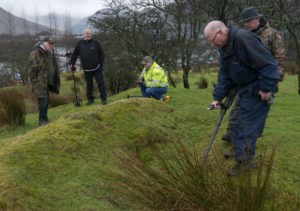 Metal detecting around the battlefield site. Photograph: Iain Ferguson, alba.photos NO F06 BATTLE OF INVERLOCHY 03